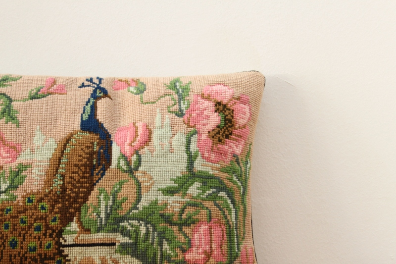 repurposed embroidered pillow